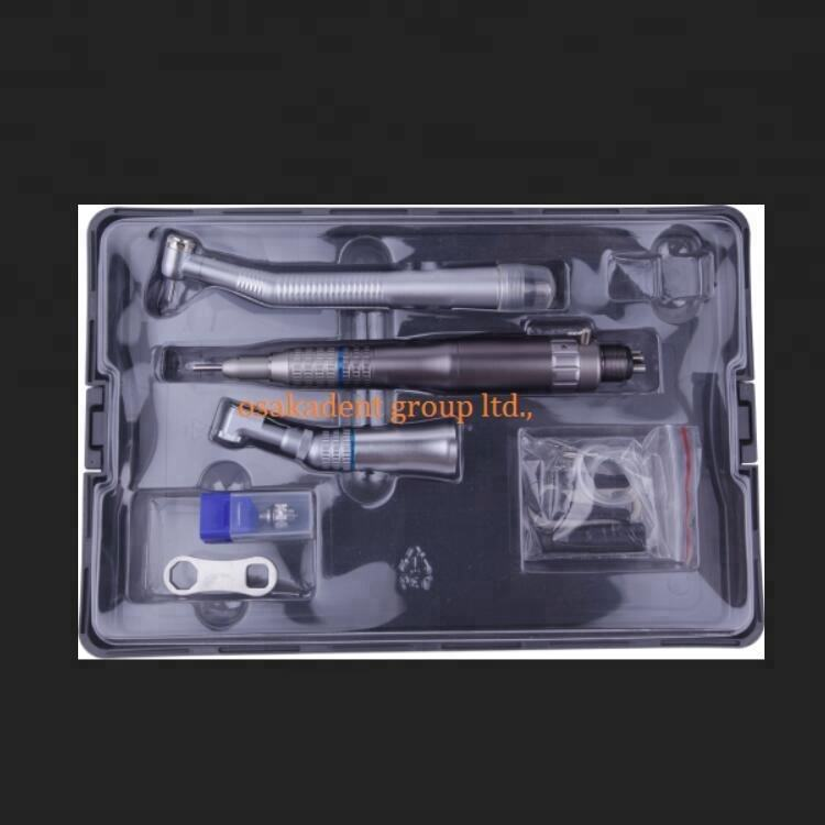 A 치과 학생 Handpiece 키트 와 한 Push Button (High) 저 (Speed 및 한 Set) 저 (Low) Speed 및 Cartridge