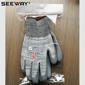 Cut Resistant Level 3 Work Hand Gloves With PU
