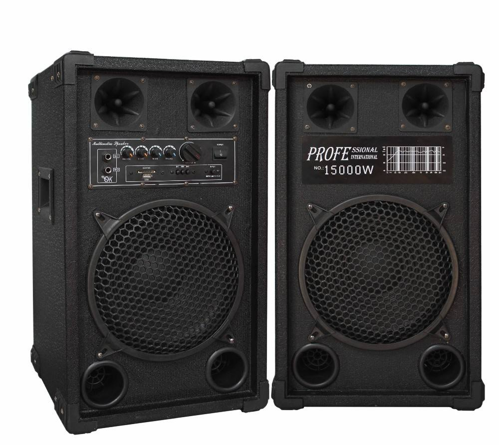 Bluetooth Super bass big power with USB MMC MC 10 inch active stage speaker