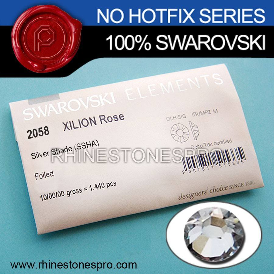Bijoux <span class=keywords><strong>Swarovski</strong></span> Elements Argent Abat-Jour (SSHA) 20ss Dos Plat Cristal Non Hotfix Strass