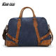 Wholesale Multi Color Canvas Cowhide Leather Traveling bag Men Sport Weekender Duffle Bag