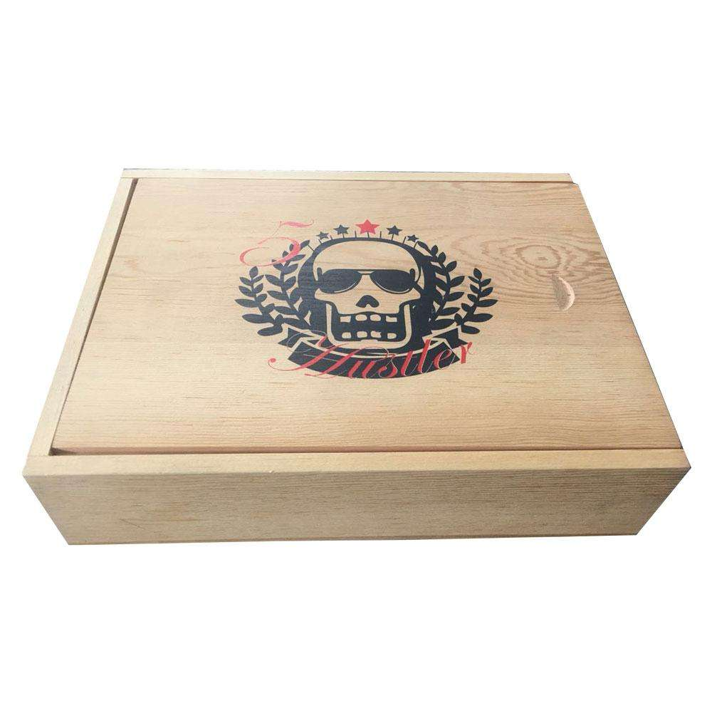 Drawer wood display box Recycle luxury cosmetic cute color decorative clothing packaging box