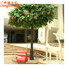 Guangzhou factory wholesale cheap indoor artificial fake plastic evergreen tropical fruit trees apple trees for sale