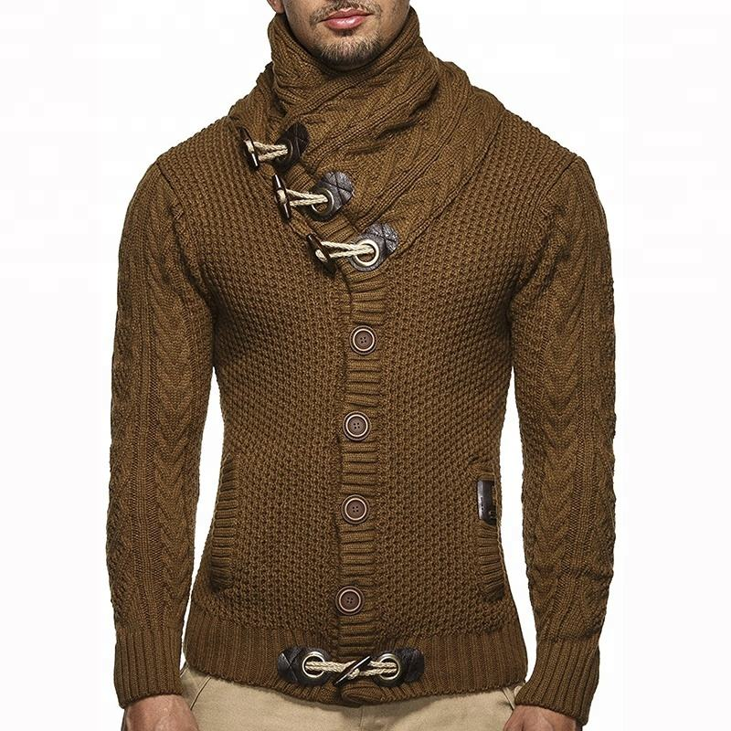 Wholesale Mens New Style Thick Custom Cardigan with Button