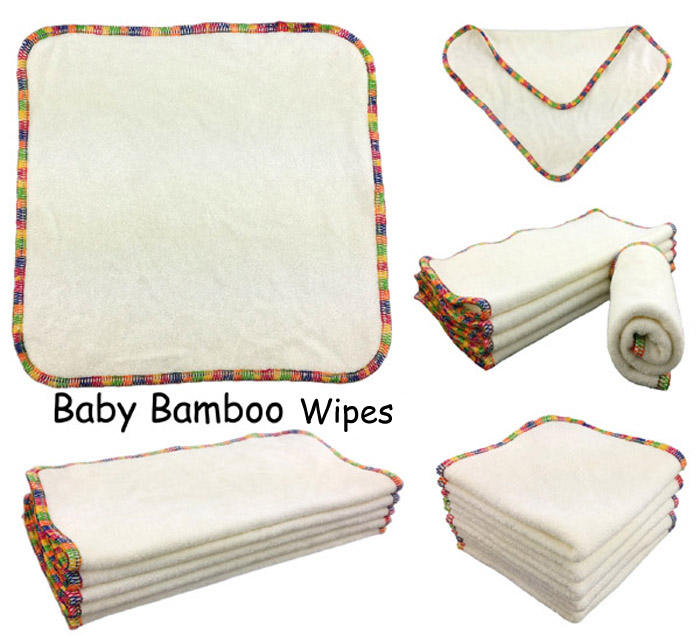 Wipe wholesale baby reusable bamboo fiber soft absorbent cleaning bamboo wipes