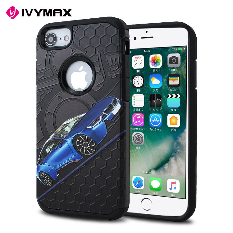 Latest 5g mobile phone korea drop resistance 2 in 1 dual layer PC+TPU phone case for apple iphone 8 celulares