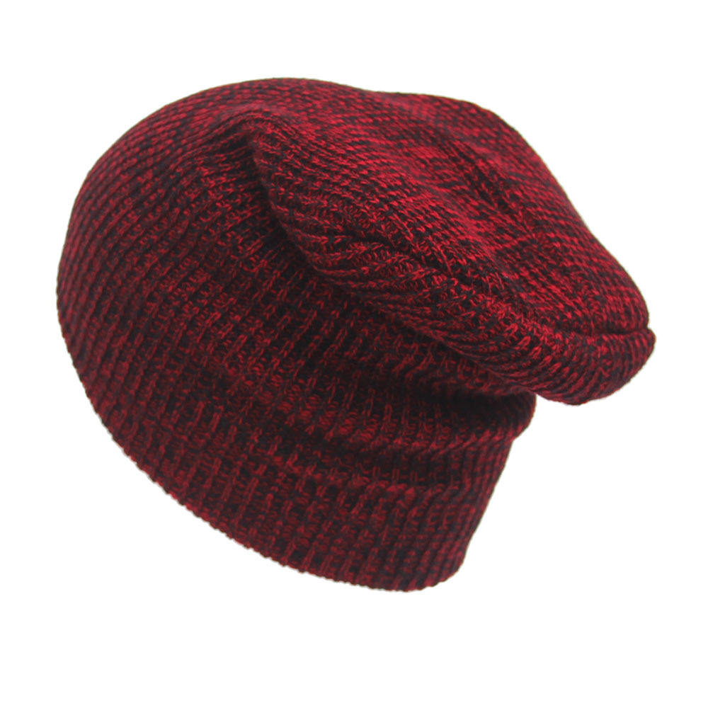wholesale man women promotion knit custom made 100 acrylic slouch beanie