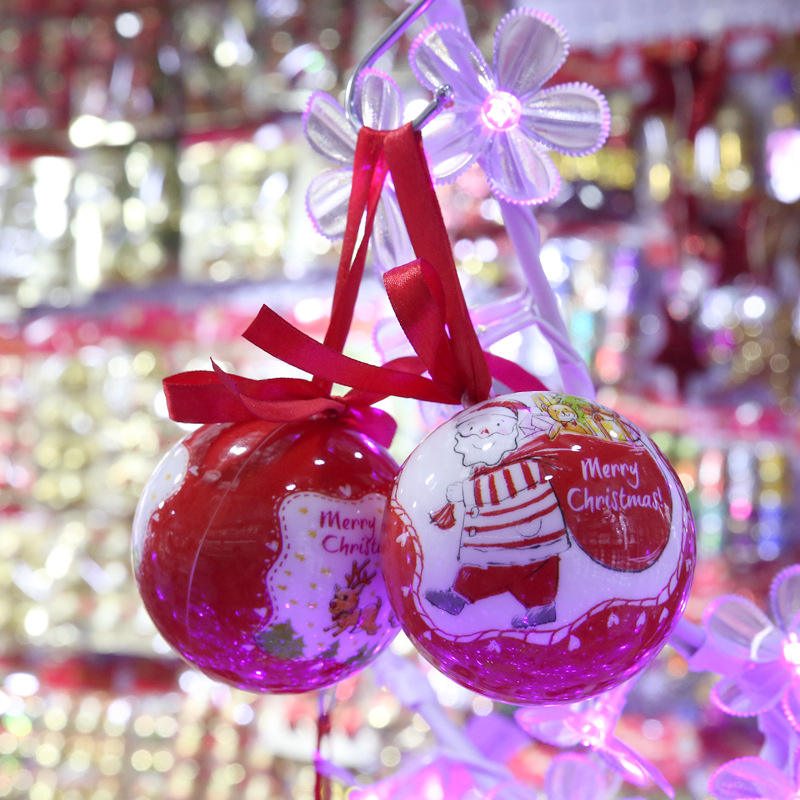 Custom giant plastic christmas decoration ball