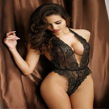 Sexy Lingerie Hot Erotic Lace Deep V Neck Teddy Sexy Erotic Underwear Lingerie Lenceria Sexy Costume