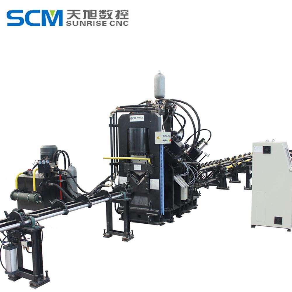 CNC steel angle cutting machine Punching Marking lathe metal cutting machine price