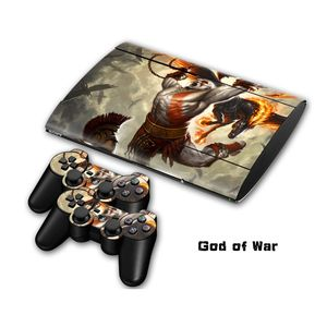 Pvc skin sticker sticker voor ps3 playstation 3 slim + 2 controllers