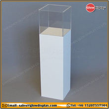 GlowDisplay Opal Acrylic Display Plinth Pedestal with Clear Display Case
