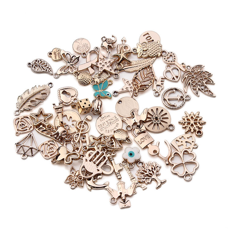 Diy Metal Bracelets Necklace Charms Handmade European Floating Charm Pendants