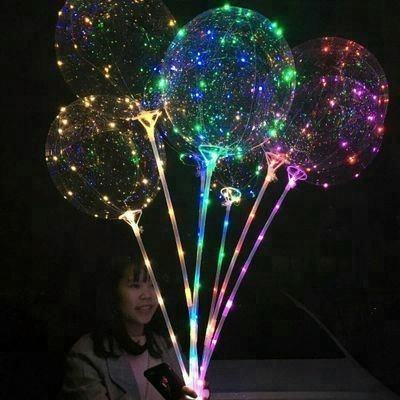 Partij decoratie 5 meters lengte string led 36 inch transparante Bobo ballon