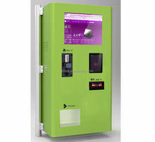 Self service payment on bus vending ticket machine touch screen kiosk