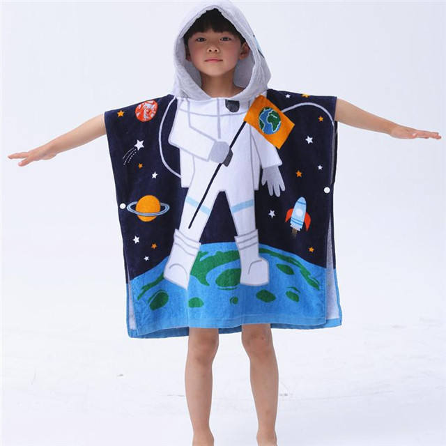 Microfiber Kids Hooded Beach Towels Children Quickly Dry Towel