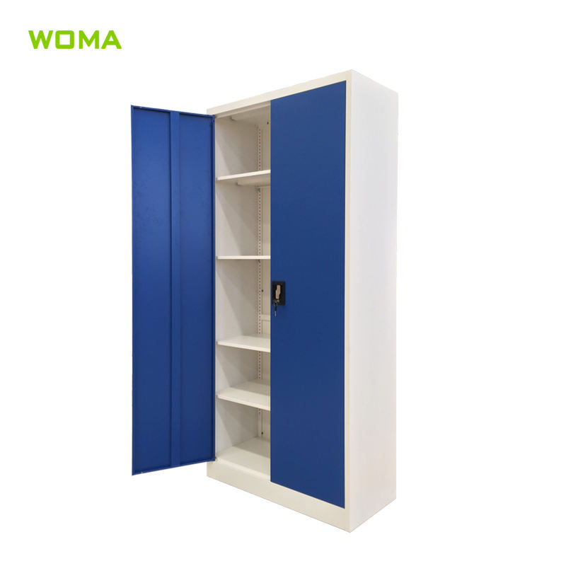 Two door office steel cupboard with 3 point lock steel cupboard cabinet manufacturers in luoyang