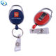 Promotional gifts New yoyo badge reels lanyards id retractable reel lot easy to pull buckle/Easy pull clasp