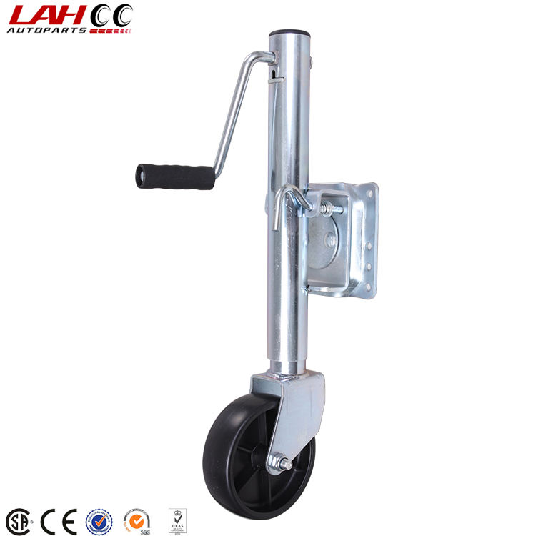 48MM Heavy duty pneumatic jockey wheel and clamp TR005