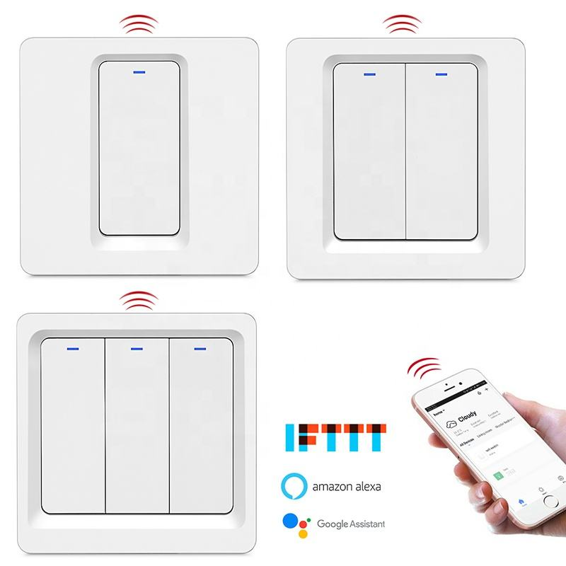 China Supplier Alexa Google Voice Control 1/2/3 Gang Smart Switch Module Home Wifi Smart Switch
