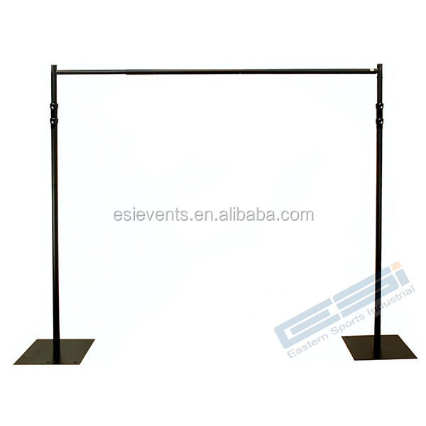 ESI Black pipe and drape backdrop stand for events/ trade show booth