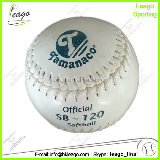 "12"" white Tamanaco SB-120 softball, softball ball manufacturer"