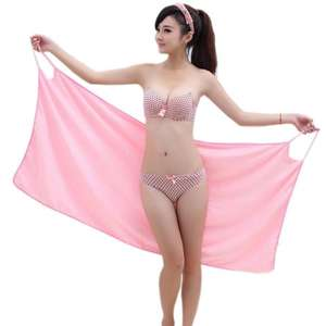En gros Rapide Drying70 * 140cm Dame Serviette Robe Plage Portable Serviette De Bain Robe