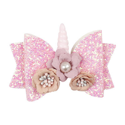 School Kids Party Hairgrips Hair Accessories Bows For Girls Sequin Flower Hair Clip