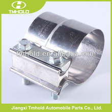 stainless steel high torque air pipe coupling for trucks clamps on tubing