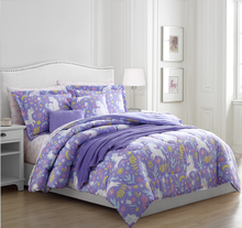 hot sell product fashion printed 10pcs bedding set,high density microfiber comforter set
