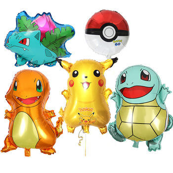 cartoon character balloon party decoration Pikachu Myrtle Frog Seed Japanese Elven Game Series helium foil Pokemon Balloons