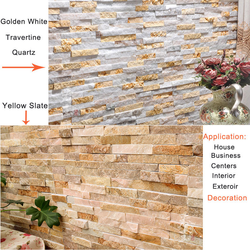 super quality artificial nature stone look brick exterior wall panel ceramic tiles in Xiamen