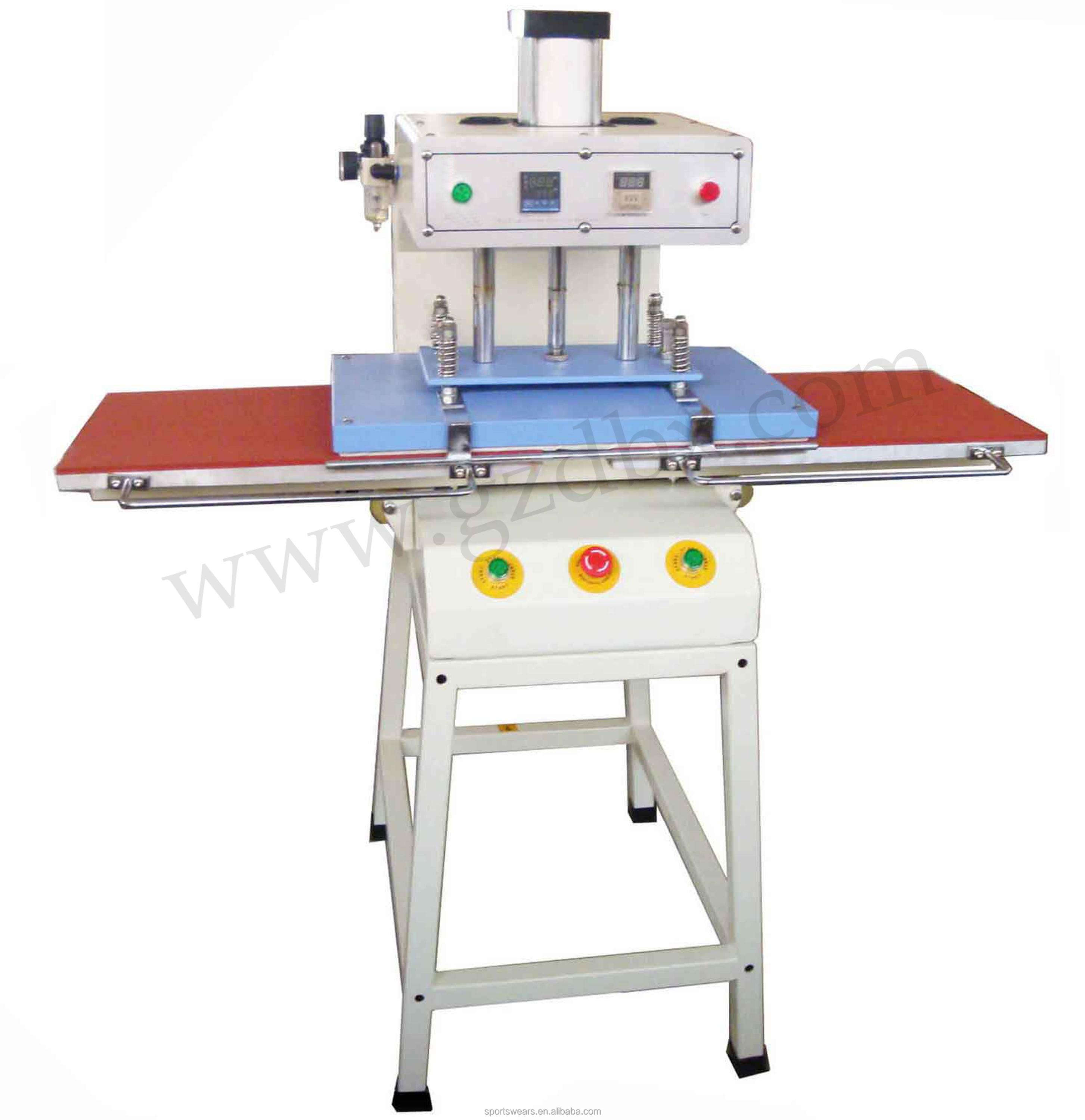 pneumatic embossing machine heat press double station