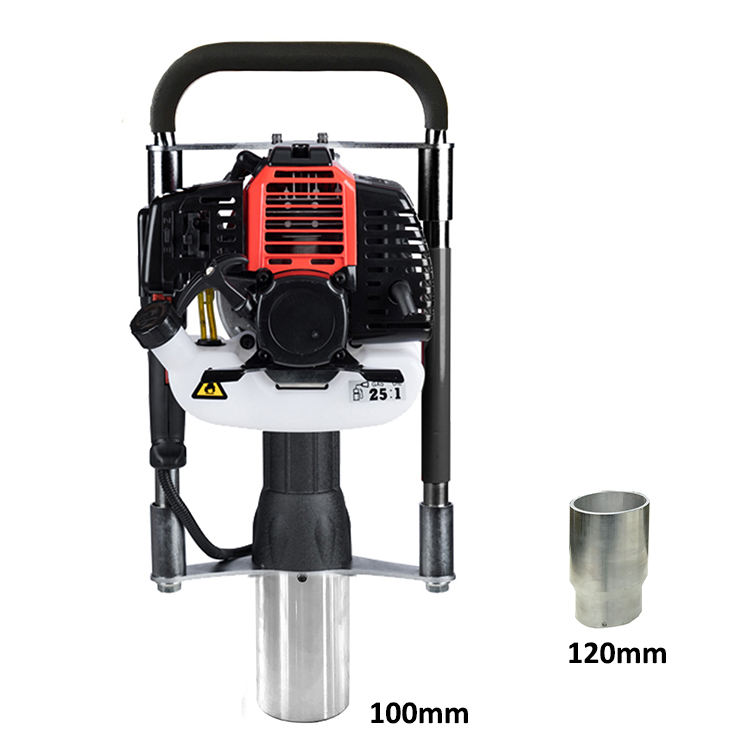 2 Stroke BYCON DPD-100 gasoline 120mm hand fence petrol post driver