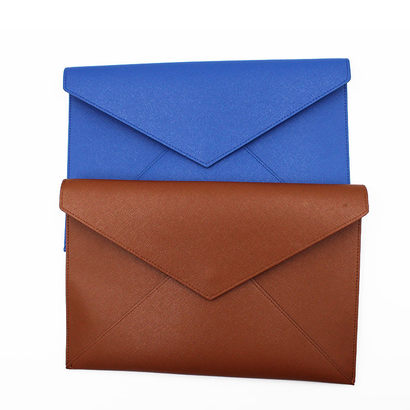 Waterproof Leather Document Envelope Portfolio Folder for A4 Letter Paper Size