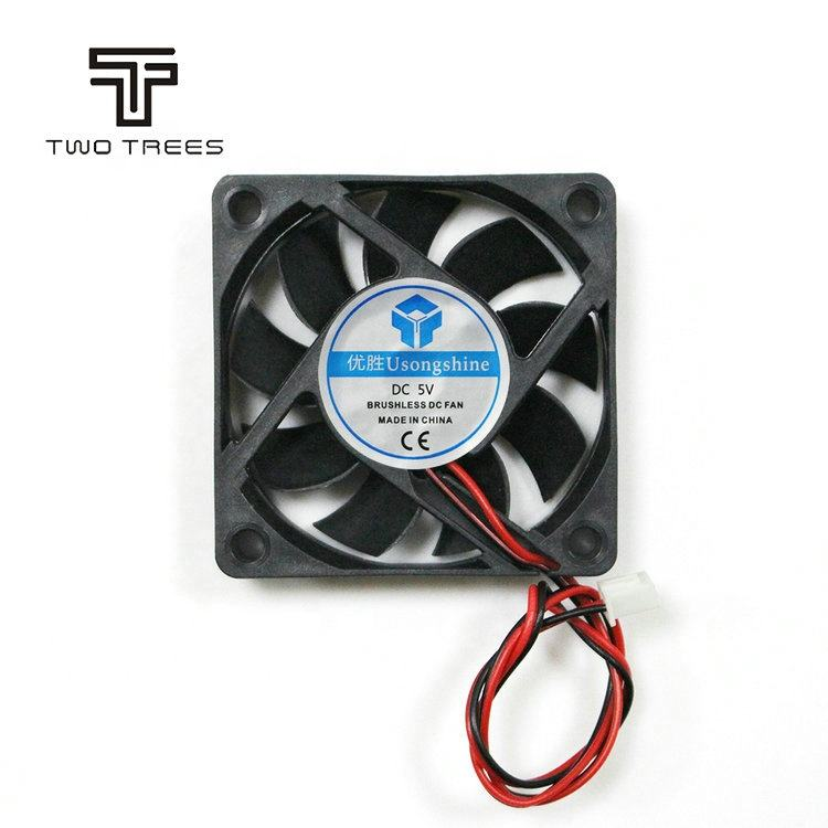 TWOTREES 2-Pin 60x60x15mm PC Computer CPU System 5V/12V/24V 6015 portable exhaust mini cooling fan