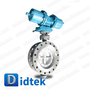 Didtek Triple Offset DN400 CF8 Pneumatic Flanged Butterfly Valvestainless steel
