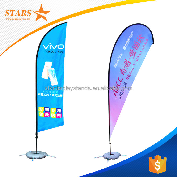 Advertisement Banners Printed Beach Flags Outdoor Frame