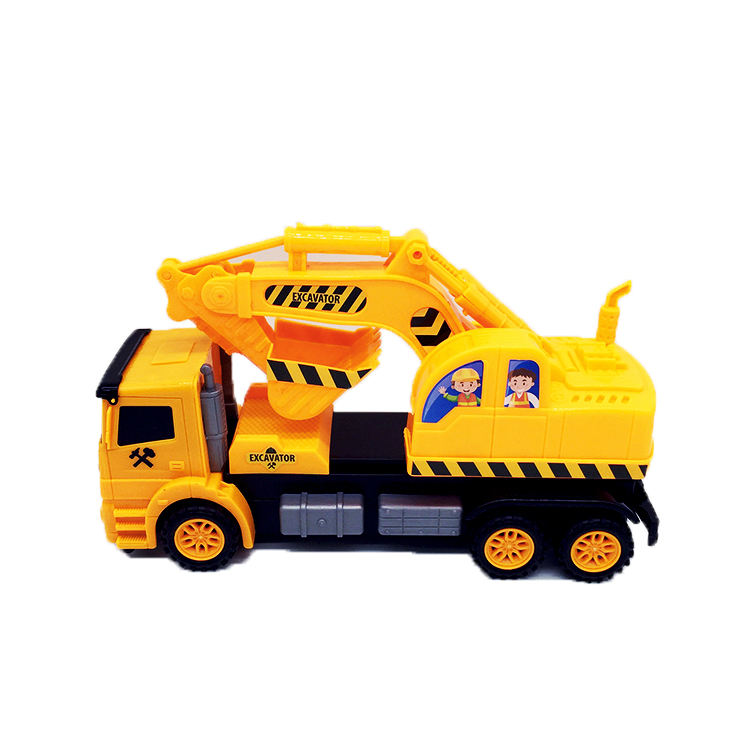 Kids Educational plastic excavator toys with rotatable and movable bucket