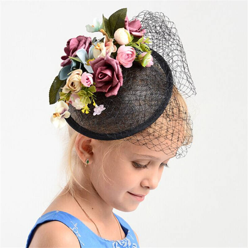 Handmade Fashion Flower Sinamay Fascinator Hair Headband for Women