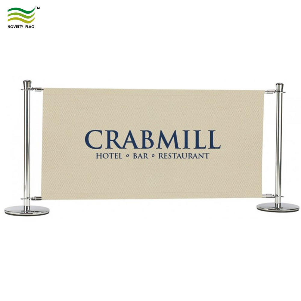 Banner Stand Outdoor Display Fence Cafe Barrier Banner