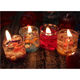 Decorative Gel Jelly Wax Glass Candles In Glass Jar