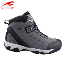 Outdoor breathable leather trekking shoes men hiking boots