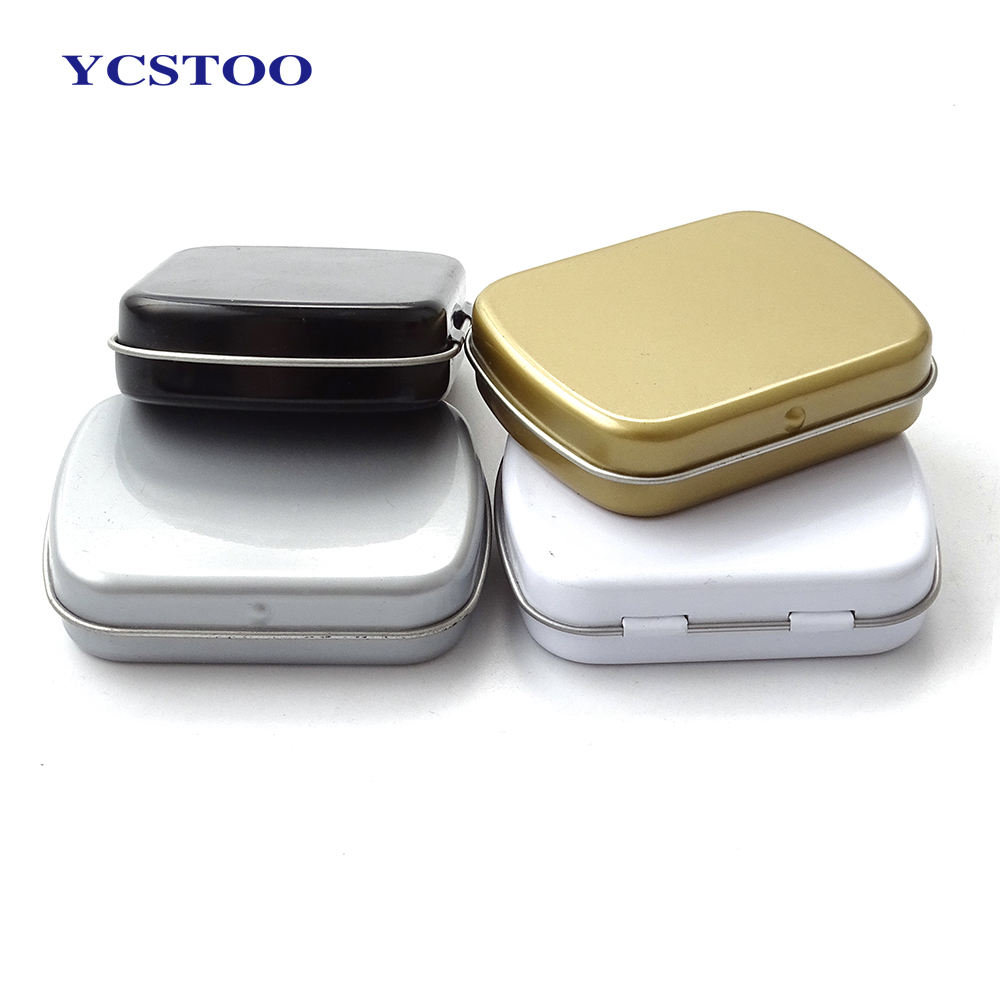 Manufacturer Wholesale Metal Hinged Mini Small Mint Candy Tin Box