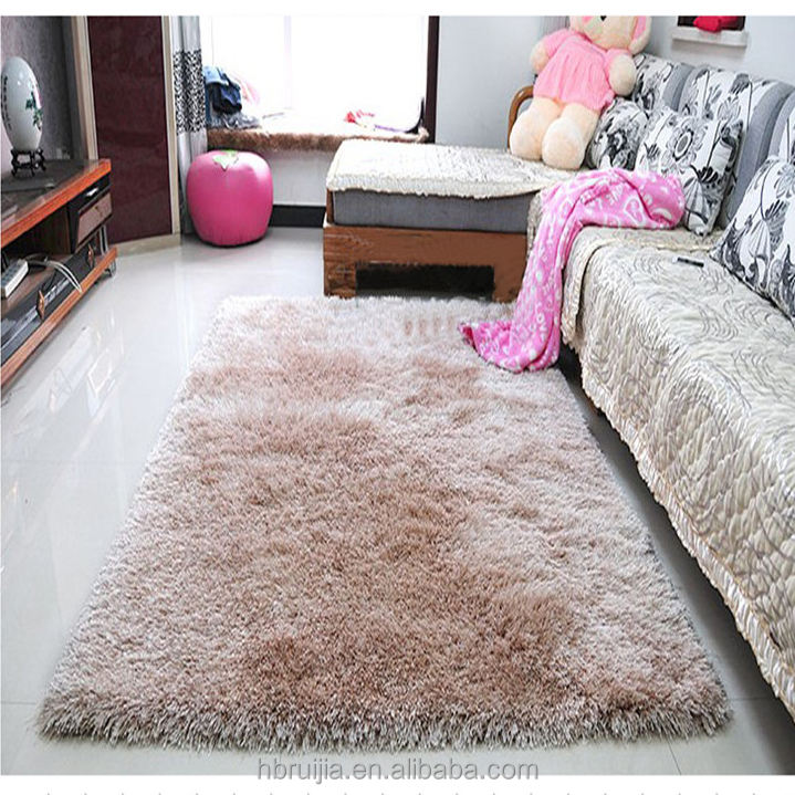 Polyester Long Pile Shaggy Dense Carpet Rug