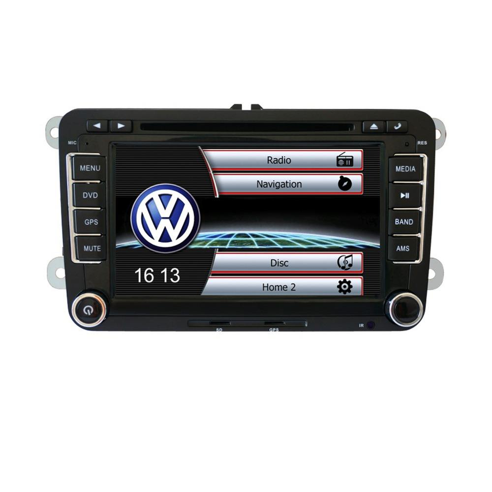 "Для VW GOLF PASSAT SKODA POLO JETTA 7 ""2 DIN HD Автомобильный dvd-плеер GPS Nav + карта"