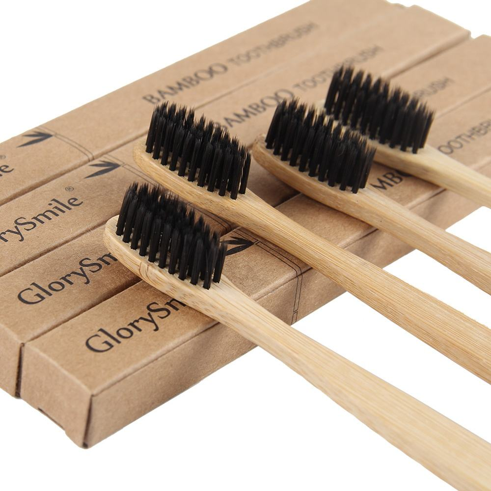 FDA&CE Approved Natural Custom Engraving Logo Charcoal Moso Bamboo Toothbrush