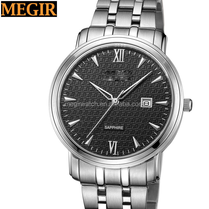 japan movt geneva watch stainless steel back private label classic brand business executive men watches