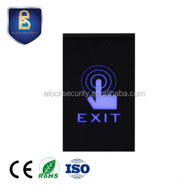 Double LED exit door switch ES326 touch to exit