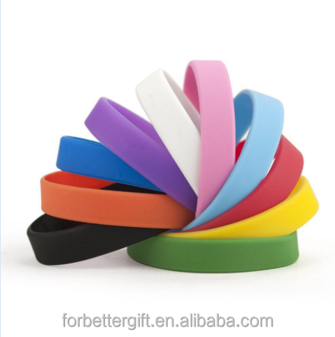 Wholesale Manufacture Cheap Solid Color Blank Silicone Wristbands Silicone Bracelets
